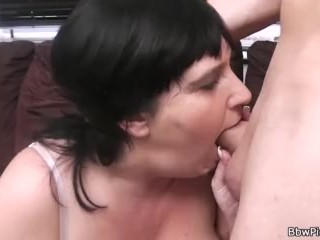 He doggy-fucks big melons chubby gf