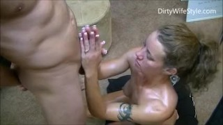 Hotwife gives 2 handjobs to husband while telling him about her gangbangs Teen russian