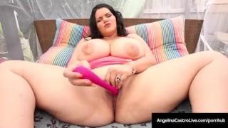 Cuban BBW, Angelina Castro, Fucks Her Juicy Pussy & Cums!