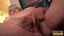 Fat british grandma masturbating