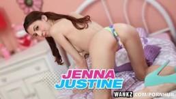 WANKZ- Leggy Teen Jenna Fucks Like a Freak