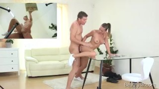 Beauty4k.com - Naomi Bennet - Choosing ideal cock pleasure Hairy stockings