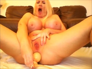 Inflatable butt plug ass to mouth watersports and 34JJ cumshot