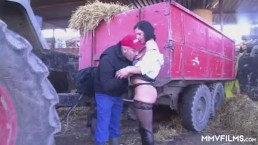 German Milf Inspector picks on the farmer