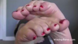 POV foot worship