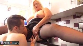 AgedLovE Old Busty Blonde Grannies Lacey Hardcore porno
