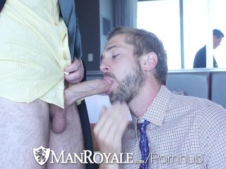 ManRoyale Hard working student Wesley Woods fucked for graduation