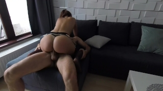 Claudia cowgirl apartment sexy ass