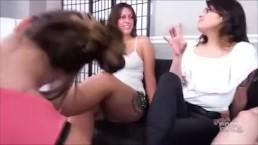Triple lesbian Foot gagging prt 1 Brattyfootgirls.com