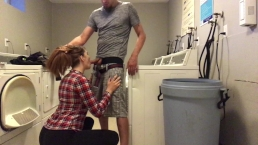 Red Head laundry fun