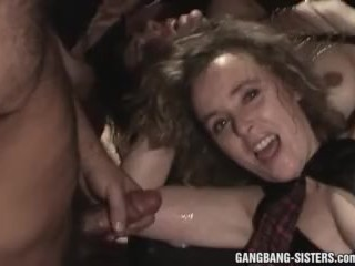 Huge gangbangs with over 50 men fucking the sluts at one go