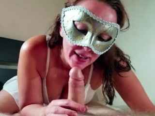 Naughty Cheating Wife Gives Blowjob With Cumshot
