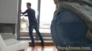 Preview 1 of Dane Jones Tight body Brazilian in high heels gets creampie from big cock