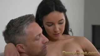 Dane Jones Tight body Brazilian in high heels gets creampie from big cock porno