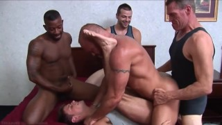 The Best of Gay Double Penetration - Anal DP Jerking breeding