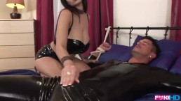 Busty Milf Beauty Dominno rides extra WILD on Hard Cock!