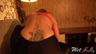 On spandex wife yoga humping dry slutty me grinding makes giving cum her a grinding tight