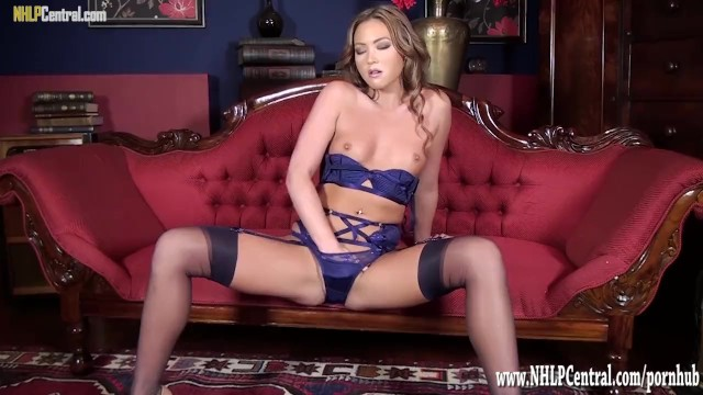 Natalia livingston nude - Hot blonde in nude heels sexy lingerie nylons before panties off pussy play