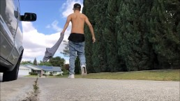 Slow Motion Sagging on the Street - SexySaggerYo
