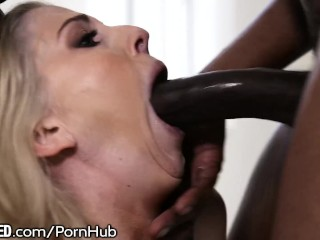 Wife screaming black double penetration