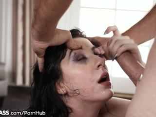 Charlotte Throats Cock like the Freaky Nympho She Is!