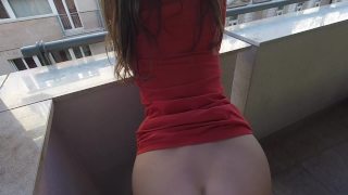 Class balcony claudia why not public real amateur