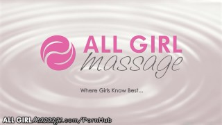 AllGirlMassage Darcie Dolce Tribs with hot Masseuse