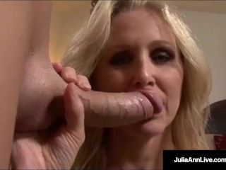 Mega Naughty Milf Julia Ann Talks Dirty & Deep throats Dick!