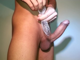 How to put a condom on an uncut penis (educational video)
