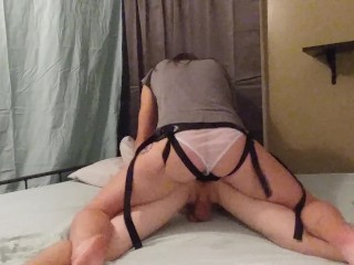 Husband Gets Fucked Hard by Wife with Strapon