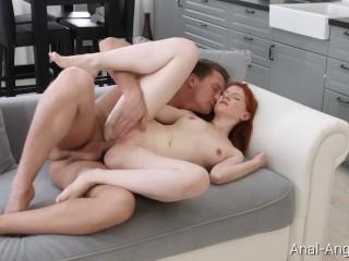 Redhead interracial anal porn video