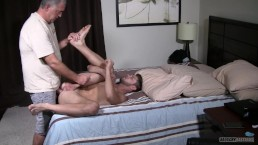 Straight Virgin Jock Gives Up His Tight Ass Bareback For Daddy