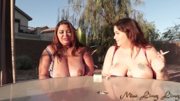 Two BBW smoking Fetish with Miss Ling Ling and Sydney Screams