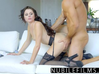 NubileFilms - Sexy Brunette Gets Naughty With Cock image