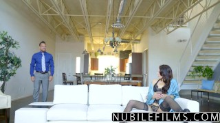 Preview 1 of NubileFilms - Sexy Brunette Gets Naughty With Cock
