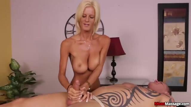 Mean milfs Blonde lady domination handjob