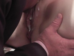 Whipped cream. Secretary instead dinner for boss. Cunnilingus cream pussy