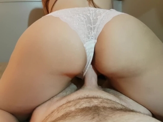 ASS QUAKING POV REVERSE COWGIRL RIDE WITH PINK LACE PANTIES PULLED ASIDE