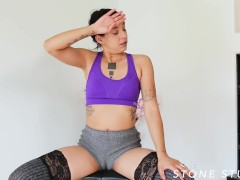 Bianca wears Gym Shorts with Camel Toe and IGNORES YOU!