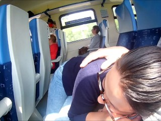 Big Dick Ass Rape Extreme In Train : Public Blowjob And Cum In Mouth