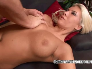 Horny coed Danica Blue takes some dick in her tight twat