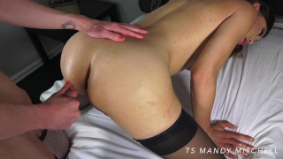 2 T girls fucking and sucking: Mandy and Venus Lux