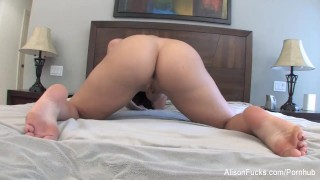 Puts wet in toy glass busty her pussy a tyler alison thick milf
