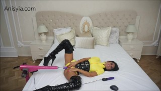 Anisyia Livejasmin fucking machines yellow latex suit fetish  latex anal big ass small waist big ass camgirl huge tattoo fucking machines uniforms rough sex kink romania kylie jenner big boobs fitness model big butt big round tits destruction