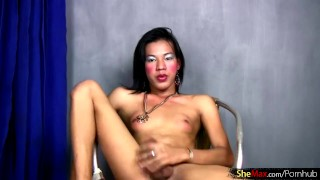 Dick stroking ass toying thick femboy video of filipino full big feminine