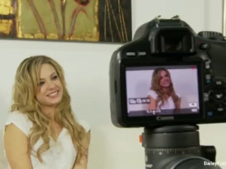 Behind the scenes interview with cute blonde Dahlia Sky