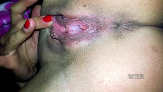 Carols pussy throbbed - Intense throbbing asshole contractions grool drip orgasm full video