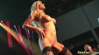 Stage on naked my stepmom busty german pornshow sexshow