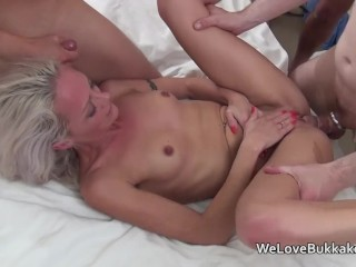 Tiny Teen Barely Legal Small Framed Blonde Used As A Fuck And Cum Toy For A