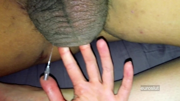 Girl Tortures Boyfriend's Testicles with Needle, Hot Extreme CBT Dirty Talk